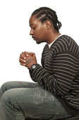 Black man praying — Stock Photo