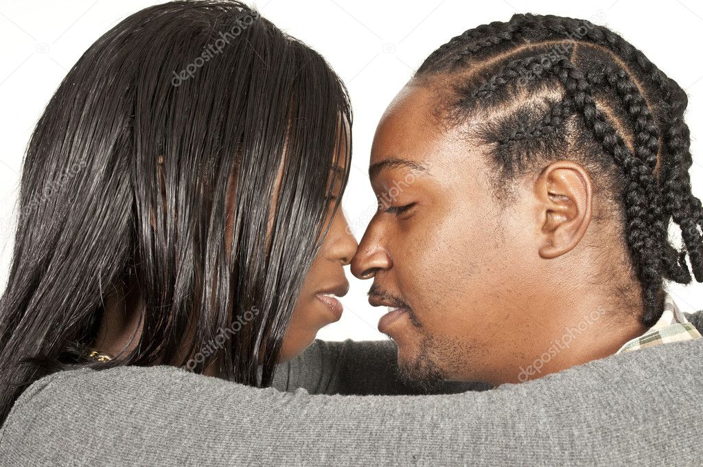 Young black African American man and woman — Stock Photo #8808421