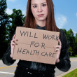 Will Work for Healthcare — Stok fotoğraf