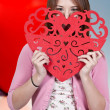 Royalty-Free Stock Photo: Valentines Day Heart Woman