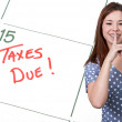 Woman Taxes Due — Stock Photo