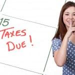 Woman Taxes Due — Stock Photo
