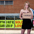 WomHolding Unemployment Sign — Stockfoto #8813637