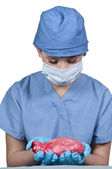 Beautiful Woman Surgeon — Stock Photo