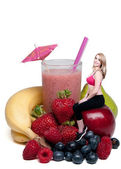 Fruit Smoothie — Stock fotografie