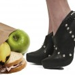 High Heels and Lunch — Stock Photo