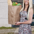 Woman Shopping Bags — Stock Photo