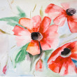 Watercolor Poppy flower — Stock Photo #10110881