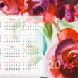 Template for calendar 2013 — Stock Photo