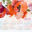 Royalty-Free Stock Photo: Template for calendar 2013