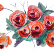 Stylized rose flowers — Stock Photo