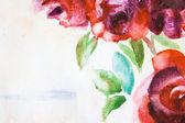 Hintergrund mit rosa Blüten — Stockfoto