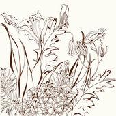 Dekoratif çiçek arka plan — Stok Vektör