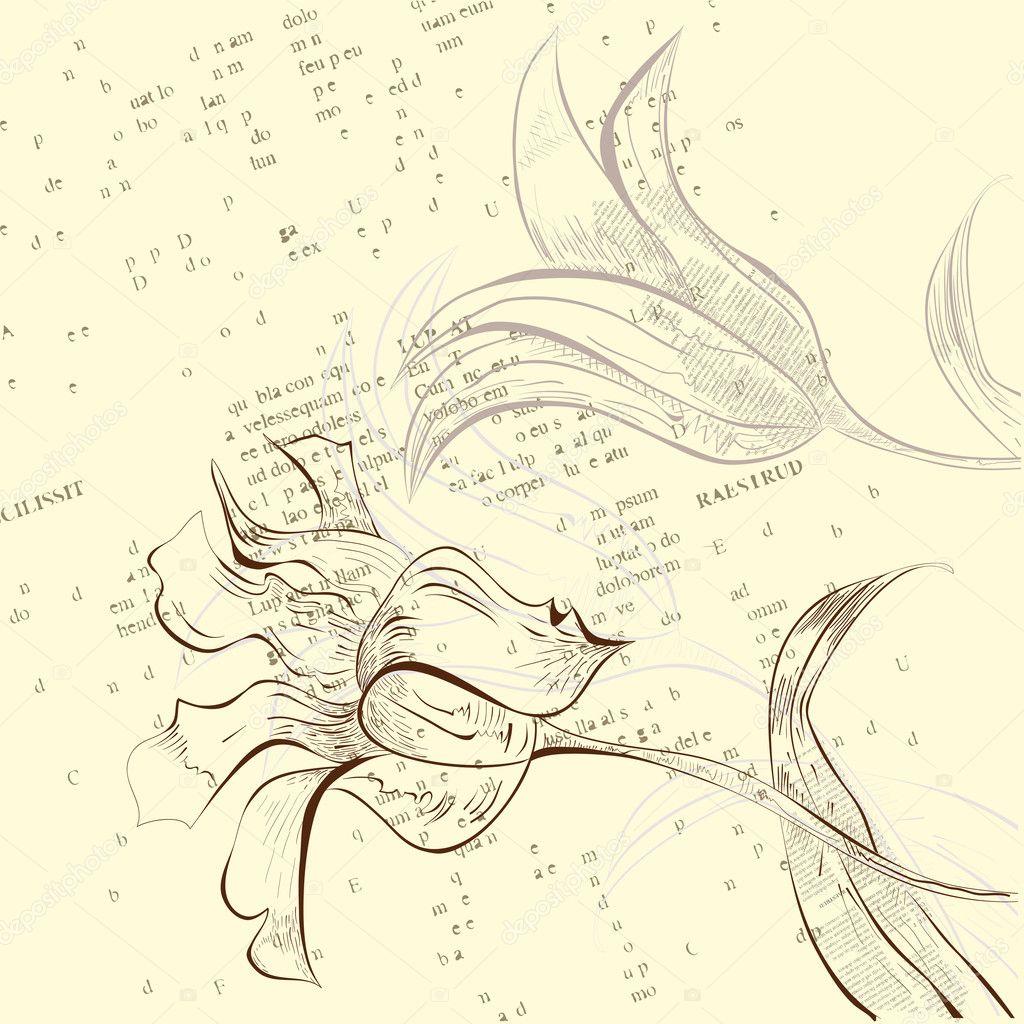 花朵叶子蝴蝶结装饰边框背景矢量图