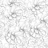 Grayscale seamless wallpaper — Stock Vector