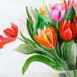 Bunch of Tulips flowers — Stock Photo #9316149