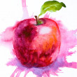 Royalty-Free Stock Photo: Stylized watercolor apple illustration