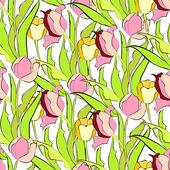 Spring seamless wallpaper — Stock Vector