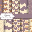 Royalty-Free Stock Imagen vectorial: Set of Valentines day vector paper for scrapbook