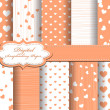 Set of Valentines day vector paper for scrapbook - ベクター素材ストック