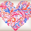 Vector floral heart for saint valentines day - ベクター素材ストック