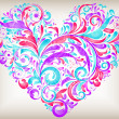 Vector floral heart for saint valentines day — Stock Vector