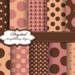 Set of polka dot vector paper for scrapbook - Stockvektor