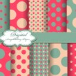 Royalty-Free Stock Vector Image: Set of polka dot vector paper for scrapbook