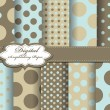 Set of polka dot vector paper for scrapbook - Imagen vectorial
