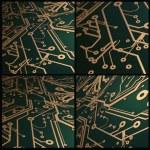 3D Circuit Board Vector Background — Stock Vector