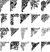 Conjunto de vinte e um cantos de cor. elementos de design. — Vetorial Stock