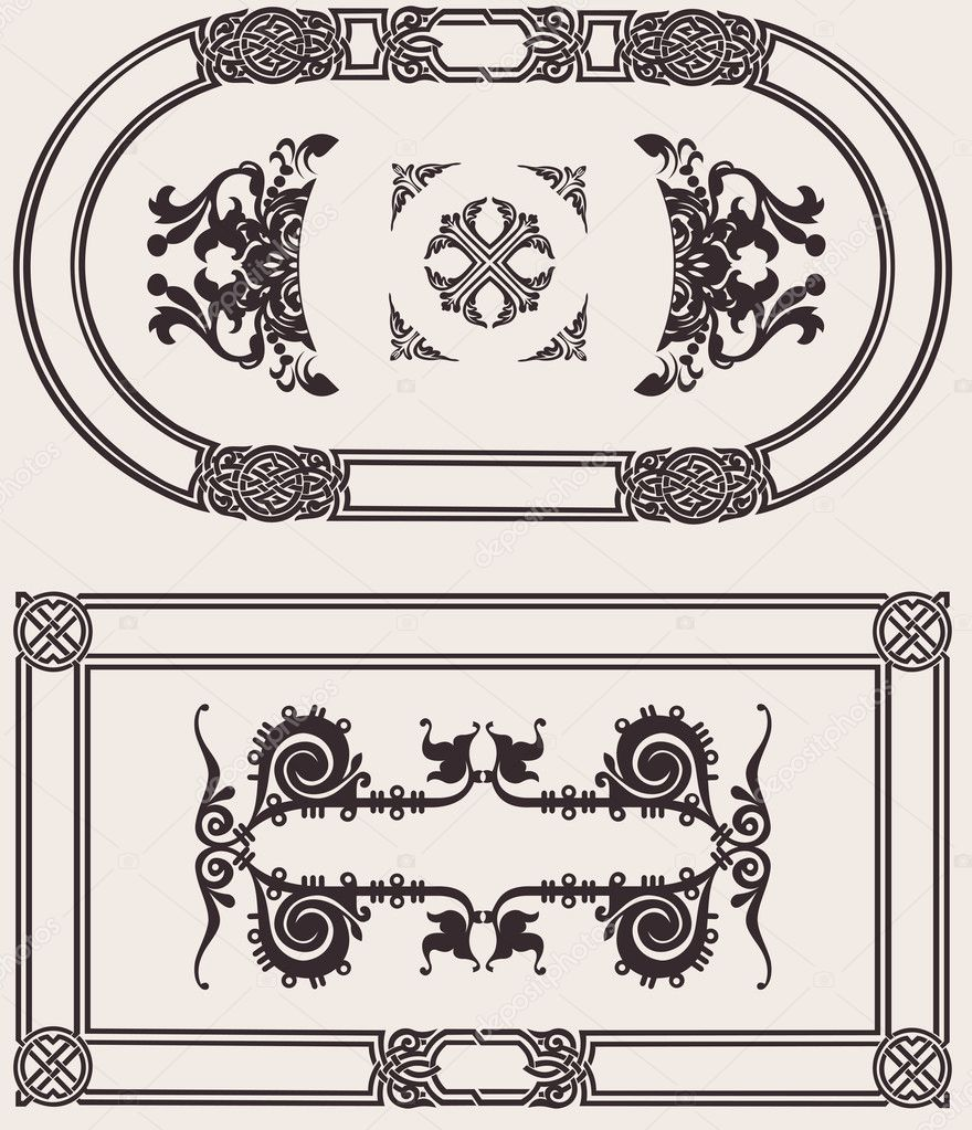 Vintage Frame Vector Set — Stock Vector #10662593