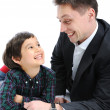 Happy father and son together — Stock Photo