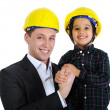 Father and son as engineers — Stock Photo #10418878