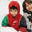 Two boys in snow — Stock Photo