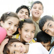 Foto Stock: Group of happy children