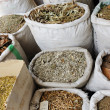Spices and herbs at arabic market — Stock Photo