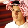 Young arabian bedouin in tent — Stock Photo