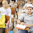 Arabic middle eastern students at school — Stock Photo