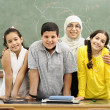 Children at school classroom — Stock Photo