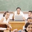 Children at school classroom — Stock Photo #10419943