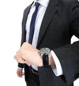 Watch wrist hand business man — Stock Photo