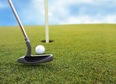 Playing golf — Foto Stock