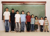 From preschool to college boys — Stock Photo