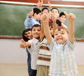 Children at school classroom — Foto Stock