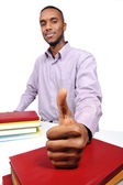 Young student with thumbs up — Stock Photo