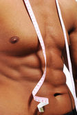 Healthy muscular male body — Stock Photo