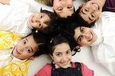 Group of happy children — Stock Photo
