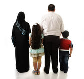 Arabic family, four members isolated — Stock Photo