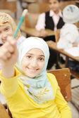 Children at school classroom — Stock Photo